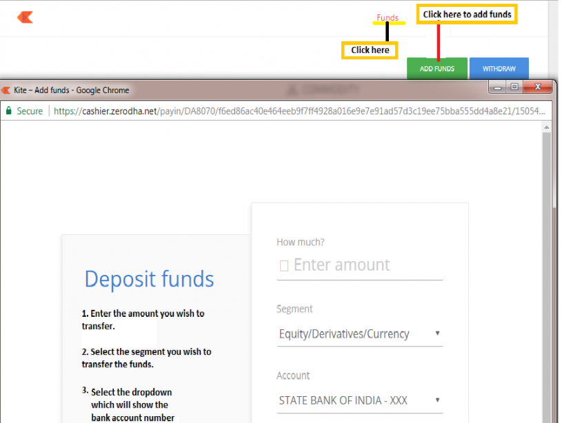 Canara Bank Wire Transfer | Transfer Funds Into Your Trading Account Z Connect By Zerodha Z