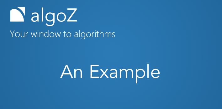 algoZ- a simple example – Z-Connect by Zerodha Z-Connect by