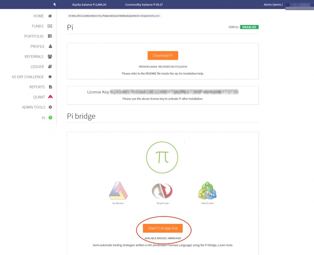 Pi Bridge for Amibroker – Z-Connect by Zerodha Z-Connect by