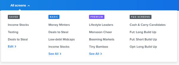 Futures & Options Filters – Z-Connect by Zerodha Z-Connect